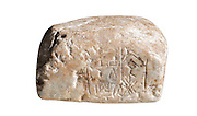Mesopotamian stone weight with Cuneiform inscription Ca 2500 BC 8.3 x 6.4 x 4.7 cm 430 gr