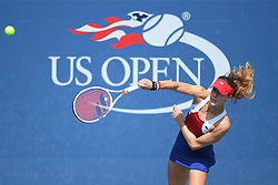 August 28, 2017 - New York, New York, U.S. - ALIZE CORNET of France during her win over H. Watson in the US Open tennis tournament. (Credit Image: © Panoramic via ZUMA Press)