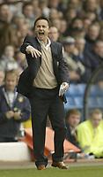 Photo: Aidan Ellis.<br /> Leeds United v Luton Town. Coca Cola Championship. 10/03/2007.<br /> Leeds manager  Dennis Wise shouts at his team