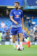 Chelsea midfielder Cesc Fabregas (4) warming up during the EFL Cup match between Chelsea and Bristol Rovers at Stamford Bridge, London, England on 23 August 2016. Photo by Matthew Redman.