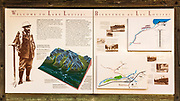 Interpretive sign at Lake Louise, Banff National Park, Alberta, Canada