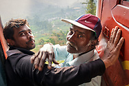 Local people travelling by train
