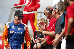 March 11, 2018 - St. Petersburg, Florida, United States of America - March 11, 2018 - St. Petersburg, Florida, USA: Scott Dixon (9) gets introduced to the crowd for the Firestone Grand Prix of St. Petersburg at Streets of St. Petersburg in St. Petersburg, Florida. (Credit Image: © Justin R. Noe Asp Inc/ASP via ZUMA Wire)