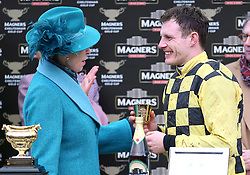 Princess Royal (left) and Paul Townsend during the presentation after the Magners Cheltenham Gold Cup Chase during Gold Cup Day of the 2019 Cheltenham Festival at Cheltenham Racecourse.