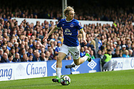Tom Davies of Everton in action. Premier league match, Everton v Chelsea at Goodison Park in Liverpool, Merseyside on Sunday 30th April 2017.<br /> pic by Chris Stading, Andrew Orchard sports photography.