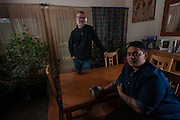 COLUMBIA, MD -- 12/20/14 -- Mark Johnson-Lewis, 48, and his son, Tyler Lewis, 22, talk about the complexity of being a biracial family..…by André Chung #_AC17491