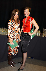 Left to right, MISS ISABEL SPEARMAN and LADY ROSE INNES-KER daughter of the 10th Duke of Roxburghe at the Macmillan Cancer Relief Celebrity Christmas Stocking Auction held at Christie's, South Kensington, London on 8th December 2004.<br />