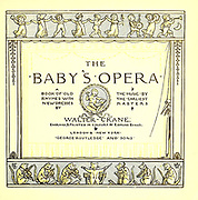 From the Book '  The baby's opera : a book of old rhymes, with new dresses by Walter Crane, and Edmund Evans Publishes in London and New York by F. Warne and co. in 1900