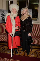 Left to right, PRINCESS JEAN GALITZINE and actress PEGGY CUMMINS at a party to celebrate the publication of  'I Used to be in Pictures' an untold story of Hollywood by Austin Mutti-Mewse and Howard Mutti-Mewse held at The Lansdowne Club, London on 6th March 2014.