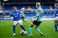 Birmingham City midfielder Lucy Quinn (17) during the FA Women's Super League match between Birmingham City Women and Brighton and Hove Albion Women at St Andrews, Birmingham United Kingdom on 12 September 2021.