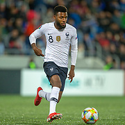 ANDORRA LA VELLA, ANDORRA. June 1.  Thomas Lemar #8 of France in action during the Andorra V France 2020 European Championship Qualifying, Group H match at the Estadi Nacional d'Andorra on June 11th 2019 in Andorra (Photo by Tim Clayton/Corbis via Getty Images)