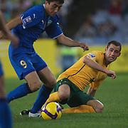 Carl Valeri in action during the 2010 Fifa World Cup Asian Qualifying match between Australia and Uzbekistan at Stadium Australia in Sydney, Australia on April 01, 2009. Australia won the match 2-0.  Photo Tim Clayton