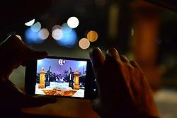 George Washington Statue on Cell Phone Camera, Boston Garden.