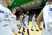 Hogue Dustin<br /> Sidigas Avellino - Dolomiti Energia Trento<br /> Lega Basket Serie A 2017/2018<br /> PlayOff Quarti Gara 1<br /> Avellino, 13/05/2018<br /> Foto Gennaro Masi / Ciamillo - Castoria