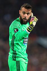 11th May 2017 - UEFA Europa League - Semi Final (2nd Leg) - Manchester United v Celta Vigo - Celta Vigo goalkeeper Sergio Alvarez - Photo: Simon Stacpoole / Offside.