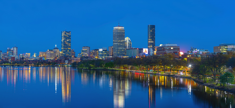 Stunning Charles River Boston Back Bay skyline panorama photography from New England based skyline photographer Juergen Roth. This Boston skyline panorama photography image shows familiar Boston landmarks such as the Prudential Center and 200 Clarendon office building formerly known as John Hancock Tower and One Dalton, housing the Four Seasons Hotel Boston, in the Back Bay as seen from the Boston University bridge in Cambridge, MA. <br /> <br /> Boston skyline panorama photography images are available as museum quality photo prints, canvas prints, acrylic wall art prints, wood image prints or metal fine art prints. Fine art prints may be framed and matted to the individual liking and decorating needs:<br /> <br /> https://juergen-roth.pixels.com/collections/boston+panorama<br /> <br /> All Boston panorama photos are available for digital photography image licensing at www.RothGalleries.com. <br /> <br /> The image can also be printed as very large art prints and used for murals. Please contact me direct with any questions or request. <br /> <br /> Good light and happy photo making!<br /> <br /> My best,<br /> <br /> Juergen