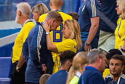 July 7, 2018 - Samara, RUSSIA - 180707 Assistant coach Peter Wettergren of Sweden hugs his wife after loosing the FIFA World Cup quarter final match between Sweden and England on July 7, 2018 in Samara..Photo: Joel Marklund / BILDBYRÃ…N / kod JM / 87755 (Credit Image: © Joel Marklund/Bildbyran via ZUMA Press)