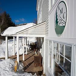 The Appalachian Mountain Club's Cardigan Lodge in winter.