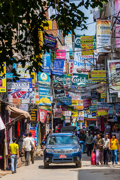 Street scene, Thamel district, Kathmandu, Nepal.