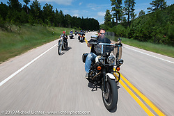 Roadside Marty Davis on the Cycle Source Ride up Vanocker Canyon to Nemo during the Sturgis Black Hills Motorcycle Rally. SD, USA. Wednesday, August 7, 2019. Photography ©2019 Michael Lichter.