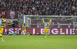 November 10, 2018 - Turin, Piedmont, Italy - Gervinho (Parma Calcio 1913) scores the opening goal during the Serie A football match between Torino FC and Parma Calcio 1913 at Olympic Grande Torino Stadium on November 10, 2018 in Turin, Italy..Torino FC lost 1-2 over Parma. (Credit Image: © Massimiliano Ferraro/NurPhoto via ZUMA Press)