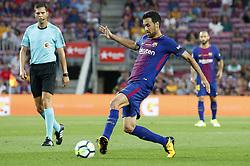 August 20, 2017 - Barcelona, Spain - Sergio Busquets during La Liga match between F.C. Barcelona v Alaves, in Barcelona, on September 10, 2016. Photo: Edi Capmany/Urbanandsport/Nurphoto  (Credit Image: © Urbanandsport/NurPhoto via ZUMA Press)