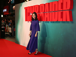 Jasmine Hemsley attending the Tomb Raider European Premiere held at Vue West End in Leicester Square, London.