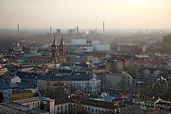 "An aerial view of Ostrava, Czech Republic is seen on March 5, 2012. Several of the 18 Roma children who were represented in the D.H. and Others v. Czech Republic case, the first challenge to systemic racial segregation in education to reach the European Court of Human Rights, live in this city. When this case was first brought in 2000, Roma children in the Czech Republic were 27 times more likely to be placed in ""special schools,"" intended for the mentally disabled, than non-Roma children. In 2007, the Grand Chamber of the European Court of Human Rights ruled that this pattern of segregation violated nondiscrimination protections in the European Convention on Human Rights. Despite this landmark decision, little change has occurred: the ""special schools"" have been renamed but follow the same substandard curriculum and Roma continue to be assigned to these schools in disproportionate numbers. The process of integration has barely begun."