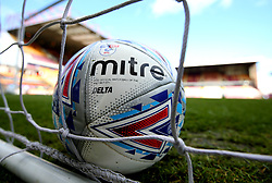 The Mitre Delta ball for the 2017/18 Sky Bet EFL Season at The Northern Commercials Stadium (Valley Parade), home of Bradford City - Mandatory by-line: Robbie Stephenson/JMP - 02/09/2017 - FOOTBALL - Northern Commercials Stadium - Bradford, England - Bradford City v Bristol Rovers - Sky Bet League One