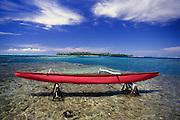 Outrigger canoe, Huahine, French Polynesia