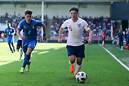 Bobby Duncan of England (15) during the UEFA European Under 17 Championship 2018 match between England and Italy at the Banks's Stadium, Walsall, England on 7 May 2018. Picture by Mick Haynes.