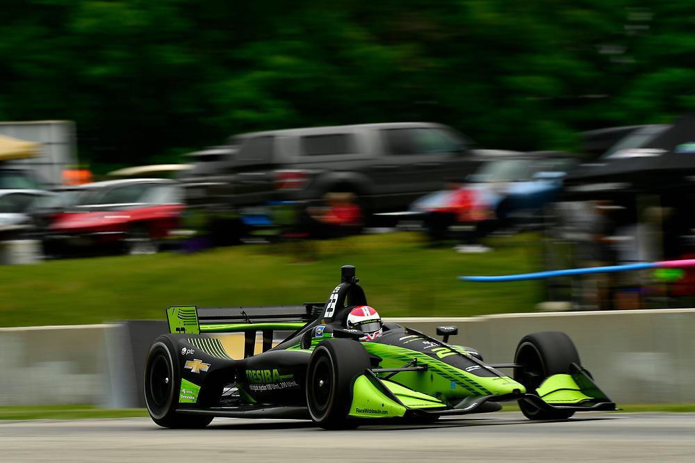 Charlie Kimball, Carlin Chevrolet<br /> Friday 22 June 2018<br /> KOHLER Grand Prix at Road America<br /> Verizon IndyCar Series<br /> Road America WI USA<br /> World Copyright: Scott R LePage