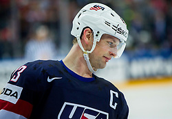 Matt Hendricks of USA during Ice Hockey match between USA and Russia at Semifinals of 2015 IIHF World Championship, on May 16, 2015 in O2 Arena, Prague, Czech Republic. Photo by Vid Ponikvar / Sportida