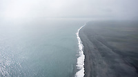 The south coast of Iceland viewed from the top of Dyrhólaey (viewing west). South Iceand.