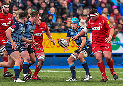 Cardiff Blues' Olly Robinson in action - Mandatory by-line: Craig Thomas/Replay images - 31/12/2017 - RUGBY - Cardiff Arms Park - Cardiff , Wales - Blues v Scarlets - Guinness Pro 14