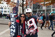 Texan fans before the NFL game between Houston Texans and Jacksonville Jaguars at Wembley Stadium in London, United Kingdom. 03 November 2019