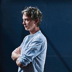 Paris, France. Rue du Perche. July 16, 2015. Swann Arlaud, actor for the cinema. Photo: Antoine Doyen