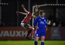 Millie Farrow of Bristol City Women vents her frustration after failing to score - Mandatory by-line: Paul Knight/JMP - 28/03/2018 - FOOTBALL - Stoke Gifford Stadium - Bristol, England - Bristol City Women v Birmingham City Ladies - FA Women's Super League