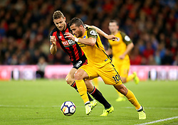 AFC Bournemouth's Simon Francis (left) and Brighton & Hove Albion's Tomer Hemed (right) battle for the ball