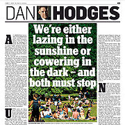 The Mail On Sunday newspaper cutting