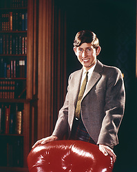 File photo dated 01/10/66 of a portrait of Prince Charles wearing the Balmoral tartan, commissioned for his 18th birthday on November 14th, 1966.