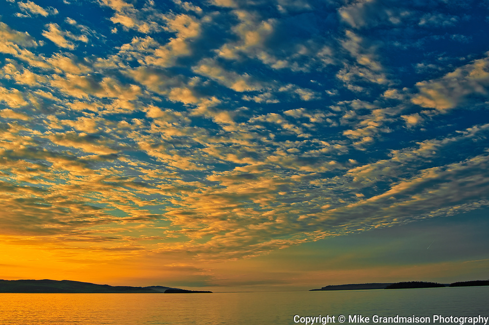 Clouds at sunrise on Lake Superior (Great Lakes) <br />Rossport<br />Ontario<br />Canada