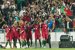 October 10, 2017 - Lissabon, Portugal - Lissabon, 10.10.2017, Fussball WM Qualifikation, Portugal - Schweiz, Portugal Spielern jubeln nach dem Tor zum 1:0  (Credit Image: © Pascal Muller/EQ Images via ZUMA Press)