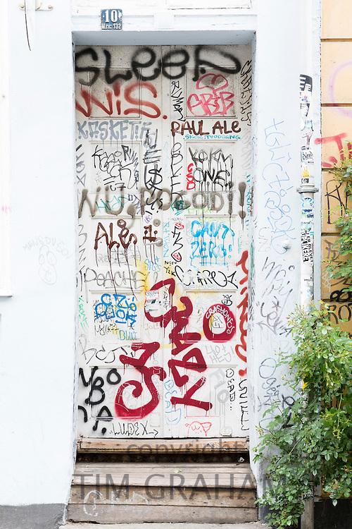 Graffiti in the old district of Copenhagen, Denmark