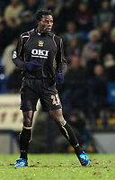 Photo: Paul Greenwood.<br />Bolton Wanderers v Portsmouth. The Barclays Premiership. 30/12/2006. Benjani Mwaruwar with his sparkly Blue Boots