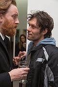 SIMON BAKER; BARRY REIGATE, George Condo - private view . Simon Lee Gallery, 12 Berkeley Street, London, 10 February 2014