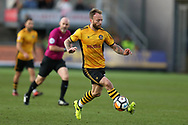 Sean Rigg of Newport County in action. The Emirates FA Cup, 2nd round match, Newport County v Cambridge United at Rodney Parade in Newport, South Wales on Sunday 3rd December 2017.<br /> pic by Andrew Orchard,  Andrew Orchard sports photography.