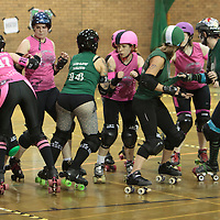 Manchester  Roller Derby's Furies take on Central City Rollergirls at George H. Carnall Sports Centre, Manchester, 2014-07-26