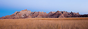 Beautiful light just after the sun set in Badlands National Park.