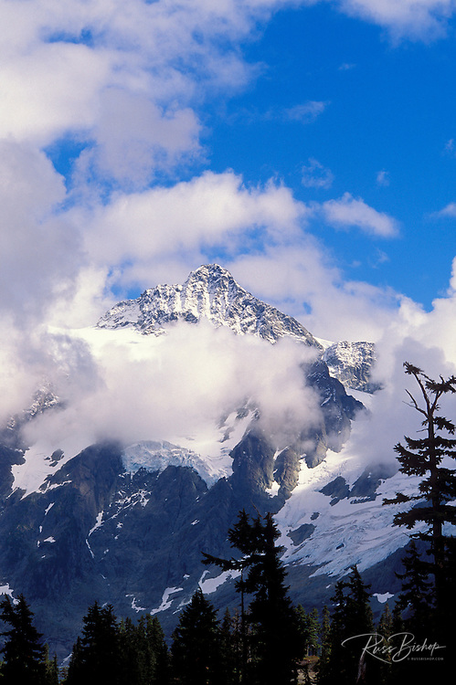 Clearing storm over Mount Shuksan, North Cascade Mountains, North Cascades National Park, Washington.